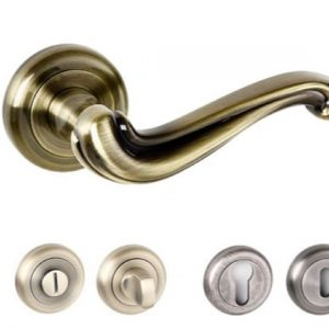 Colchester Radius Edge Lever Handles and Accessories Antique Brass