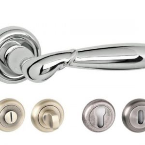 Rochester Radius  Edge Lever Handles and Accessories Polished Chrome