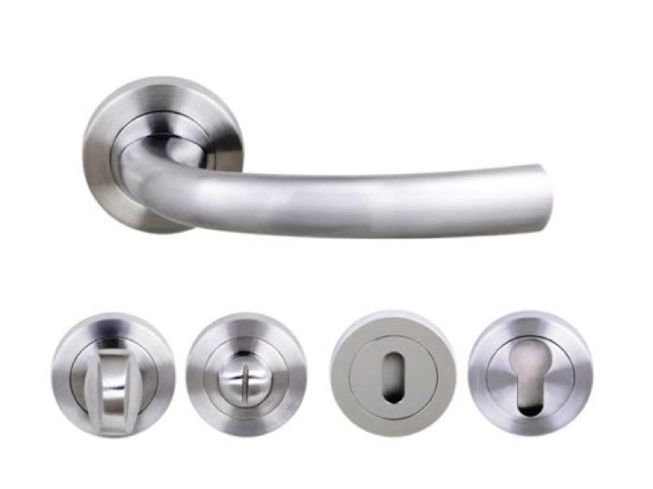 Nevada Lever Handles and Accessories in Satin Chrome