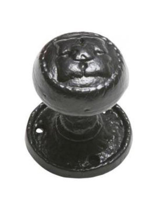 Kirkpatrick Antique Black Iron Door Knob Set 1206