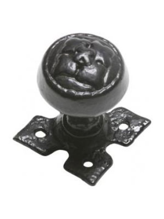 Kirkpatrick Antique Black Iron Door Knob Set 1207