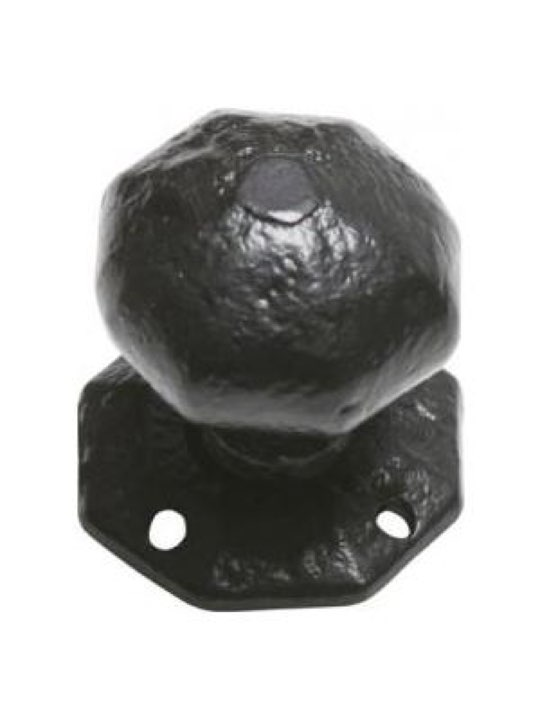 Kirkpatrick Antique Black Iron Door Knob Set 3056 57mm