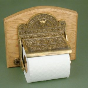 Sanitary Paper Co Holder - Aged Brass