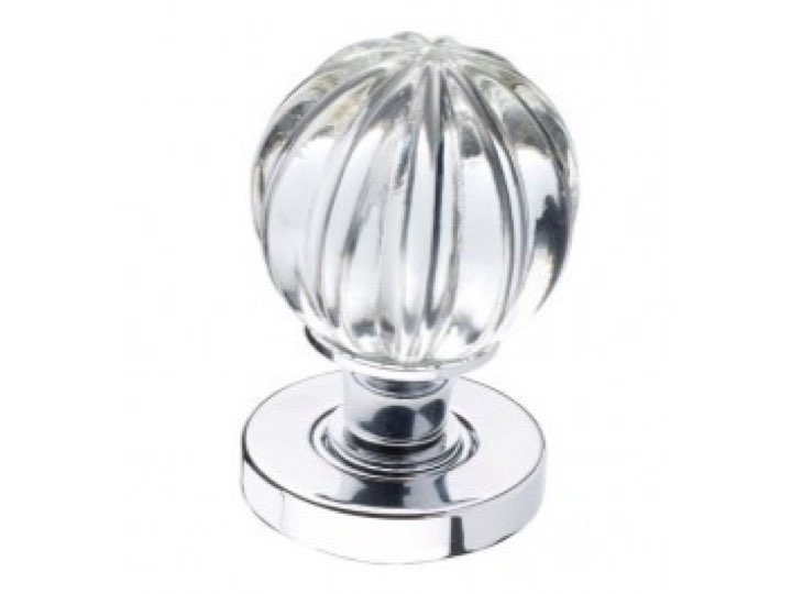 Glass Pumpkin Door Knob
