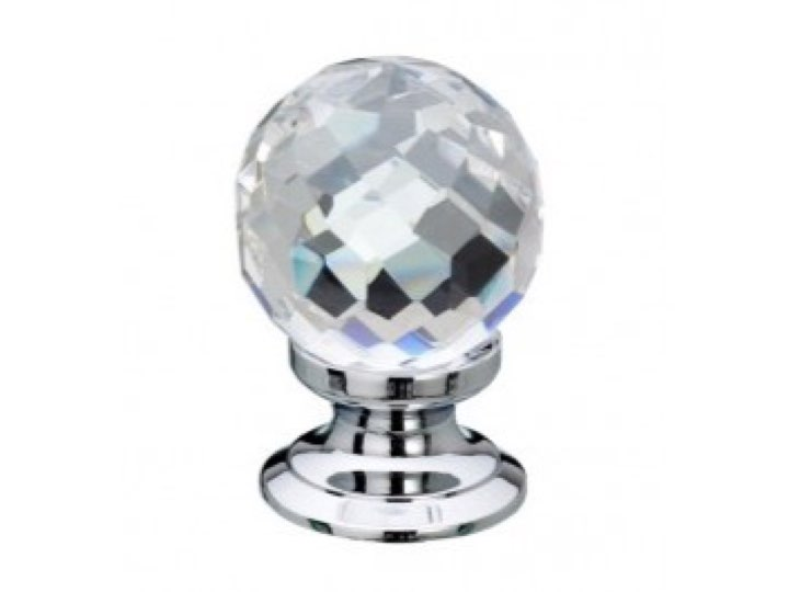 Faceted Glass Cupboard Knob 30mm