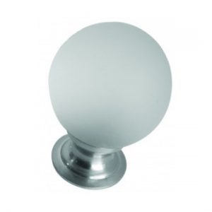 Frosted Glass Cupboard Knob 30mm