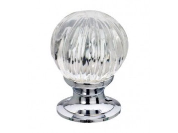 Pumpkin Glass Cupboard Knobs 25mm