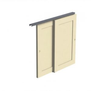 Double 60X Wardrobe Door Gear (Extra Thick Doors)