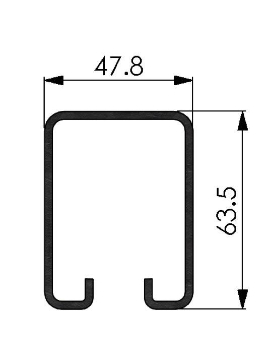 3-25 Galvanised Steel Track