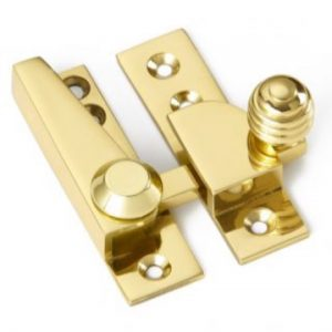 Croft Reeded Knob Sash Fastener