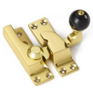 Croft Large Straight Arm Sash Fastener - Black Knob