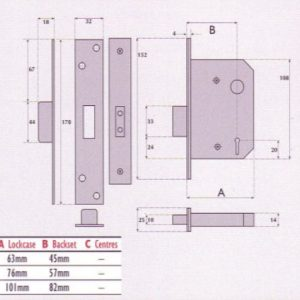 5 Lever Mortice Deadlock - SC5004