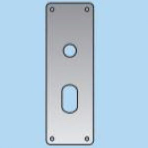 Lever On Oval Lock Plate - 22mm