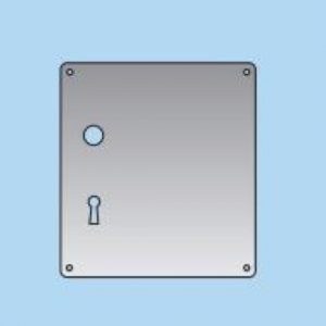 Lever on Lock Plate - 20mm