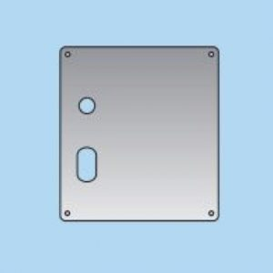 Lever on Oval Lock Plate - 20mm
