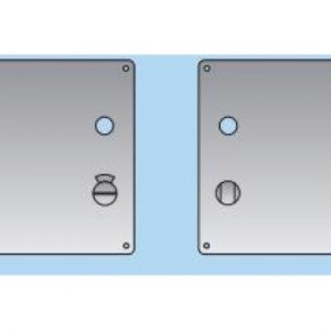 Lever on Bathroom Plate - 20mm