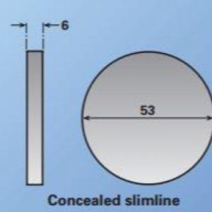 Lever on Slimline Rose - 20mm