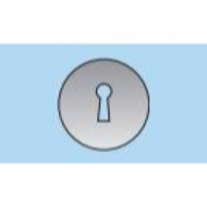 55mm Concealed Keyhole Escutcheon