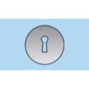 53mm Slimline Keyhole Escutcheon