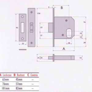Oval-Profile Cylinder Mortice Deadlock - G7054