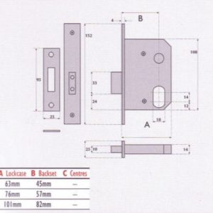 Oval-Profile Cylinder Mortice Deadlock - SC7054