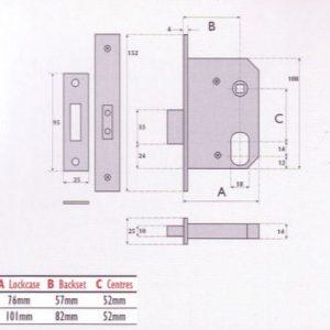 Oval-Profile Cylinder Mortice Escape Deadlock - G7057