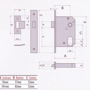 Oval-Profile Cylinder Mortice Night Latch - G7058
