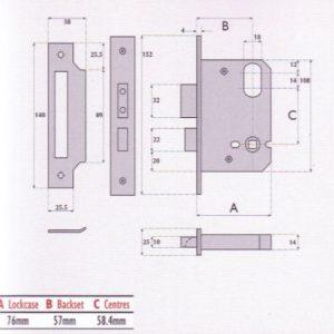 Oval-Profile Cylinder Upside Down Mortice Sashlock - G7070
