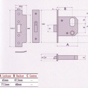Oval-Profile Cylinder Mortice Night Latch - G7588