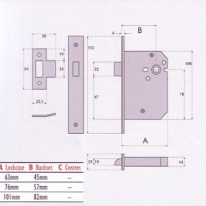 Mortice Latch - G4053