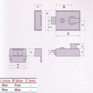 Rim Cylinder Night Latch - S9090