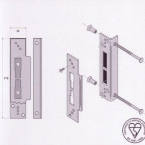 Supastrike Adjustable Security Box Striker - G9500M