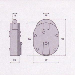 5 Lever Padlock - G9510