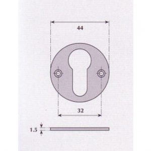 Euro Profile Escutcheon - G9528
