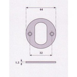 Oval Profile Escutcheon - G9529