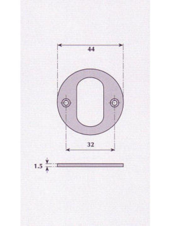 Oval Profile Escutcheon - G9529