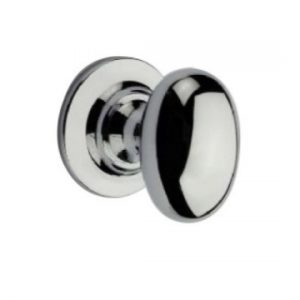 Solid Brass Oval Cupboard Knob - 19mm