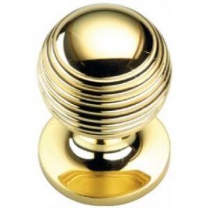 Reeded Cupboard Knob - 19mm