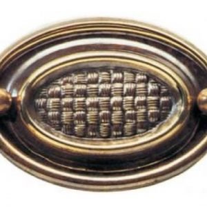 Basket Weave Style Oval Plate Handle