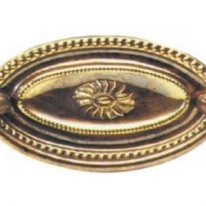 Brass Oval Plate Handle