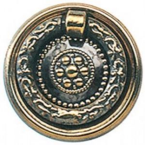 Patterned Brass Ring Pull Handle