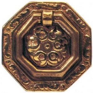 Octagonal Brass Ring Pull Handle