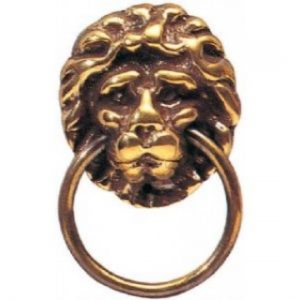 Lion Head Brass Ring Pull Handle