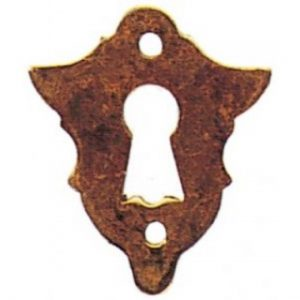 Stamped Brass Escutcheon Keyhole Cover