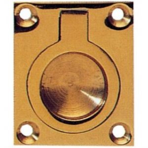 Rectangular Brass Flush Rings