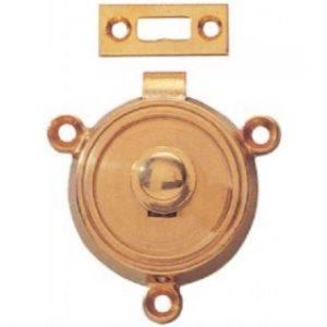 Brass Round Button Table Catch