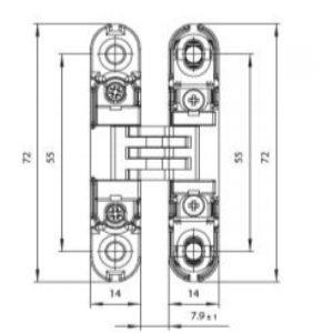 K6100 Concealed Cupboard Hinge