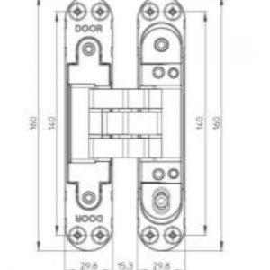 K7080 Concealed Hinge