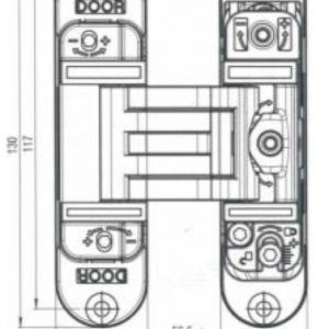 K6300 Concealed Hinge - Offset / Flush Model