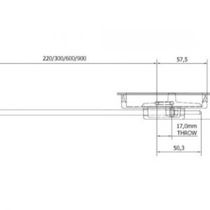 Anza Flush Mounted Door Bolt - 300mm